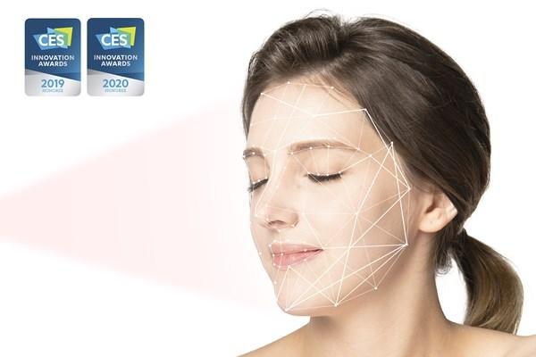 CES 2020 혁신상을 수상한 룰루랩의 루미니 홈 피부 분석 모습(사진=룰루랩)